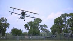 Grumman Duck Landing Grass Runway Stock Footage