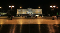Parliament Building Capital Cities Athens, dolly shot - stock footage