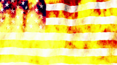 USA Flag burning non looping Stock Footage