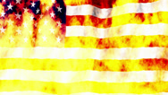 Stock Video Footage of USA Flag burning non looping