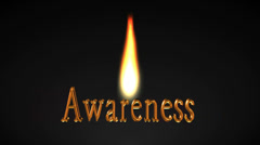 Awareness 3D title animation for videos HD Stock Footage