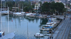 Time lapse famous town Fethiye, tracking shot Stock Footage