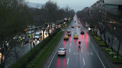 Time lapse city traffic, dolly shot Stock Footage