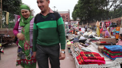Market at Mosque in India - stock footage