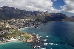 twelve apostles and camps bay - stock photo