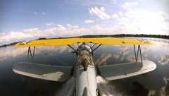 Grumman Duck Tail Mount Landing Water Stock Footage