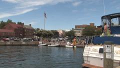 Annapolis City Dock Stock Footage
