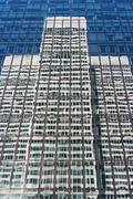 Exterior of contemporary glass business center Stock Photos