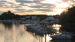 Marina at Dawn Stock Footage