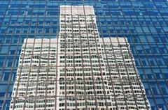 Stock Photo of exterior of contemporary glass business center