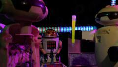 Vintage Sci-Fi Robots Stock Footage