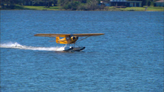 Piper J-3 on Floats Step Taxi Stock Footage