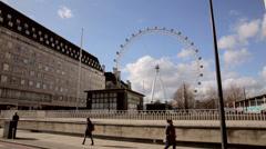 Edf energy london eye Stock Footage