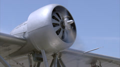 Sikorsky S-39 Engine MWS Stock Footage