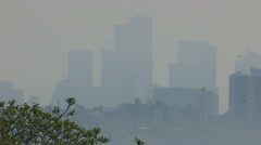 Toronto summer smog and pollution Stock Footage