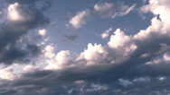 Stock Video Footage of moving clouds