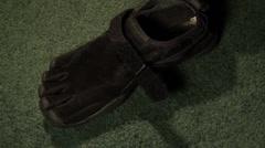 Barefoot Shoe Stock Footage