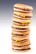 Tall burgers Stock Photos