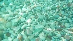 Underwater Footage, Sun Rays, Gravel Stock Footage