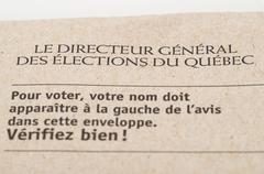 Stock Photo of elections quebec letter envelop