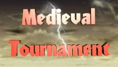 Medieval Tournament, animated title for videos HD Stock Footage