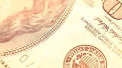 Close up of US Dollar - stock footage