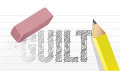 Erase your guilt concept illustration design Stock Illustration