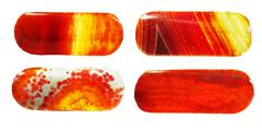 red agate geological crystal - stock photo