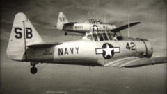Vintage T-6 Formation Techniques Stock Footage