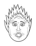 panic face - stock illustration