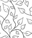 Stock Illustration of leaves seamless pattern