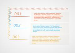 Stock Illustration of infographics - three color options with arrows