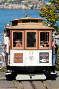 San francisco - november 2nd: the cable car tram Stock Photos