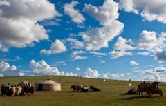 Mongolian landscape Stock Photos