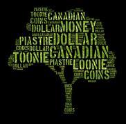canada monetary concept - stock illustration