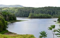 rocky creek dam in new south wales in australia - stock photo