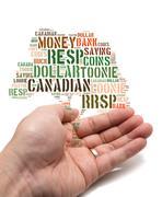 Kanadan säästöjä käsite Piirros