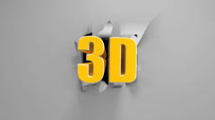3D title on a torn screen. For a theatrical or tv trailer. Stock Footage