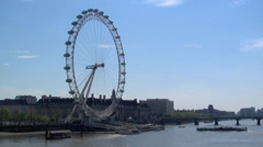 View of The London Eye, London. Stock Footage