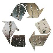 Recycle sign made with water droplets Stock Illustration