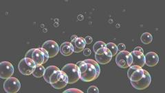 Blisters & floating bubble generation underwater,water liquid gray background. Stock Footage