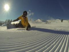 Extreme snowboarding. Stock Footage
