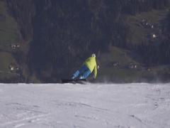 Extremecarving snowboard. Stock Footage