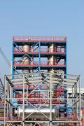 New petrochemical factory construction site Stock Photos