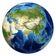 Earth globe, realistic 3 d rendering. asia view. Piirros