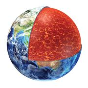 Earth cross section. upper mantle version. Stock Illustration