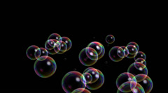 Blisters & floating bubble generation underwater,water liquid black background. Stock Footage