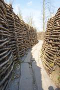 Bayernwald trenches world war one flanders belgium Stock Photos