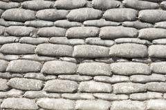 Background sandbags of trenches world war one Stock Photos