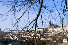Prague Castle in December Stock Photos